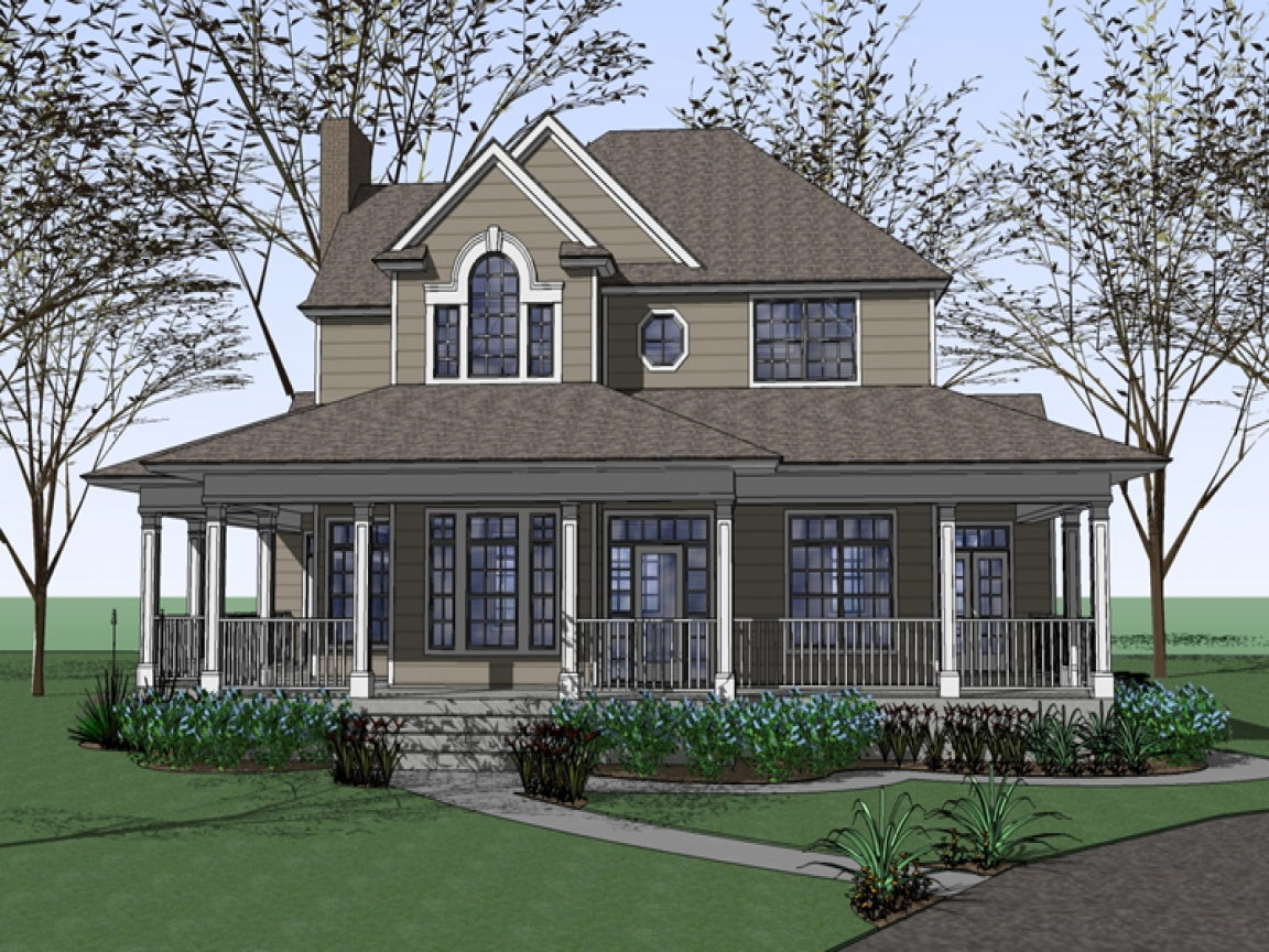 Farm House Plans With Wrap Around Porches Old Fashioned