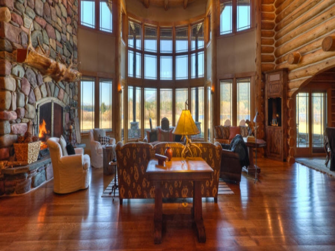 Luxury log home interiors luxury log homes great rooms for Great home interiors