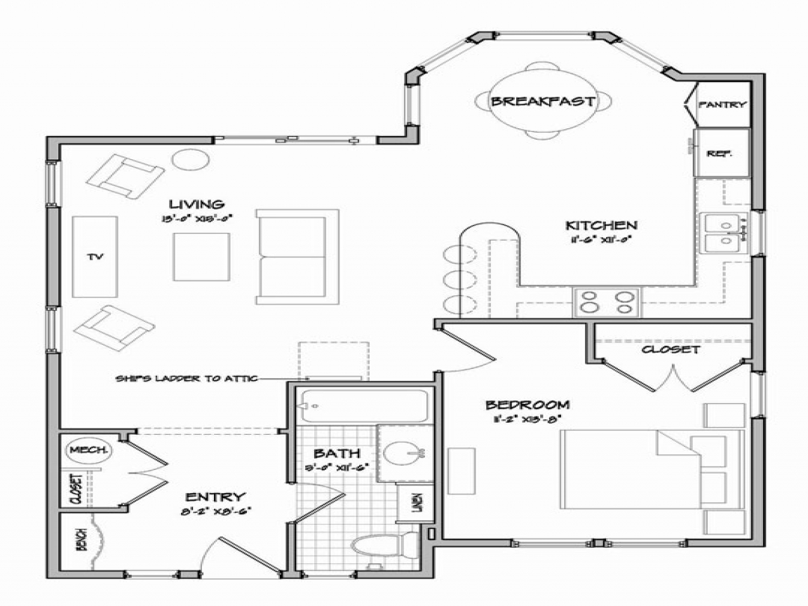 Simple Small House Floor Plans Cottage Floor Plans And