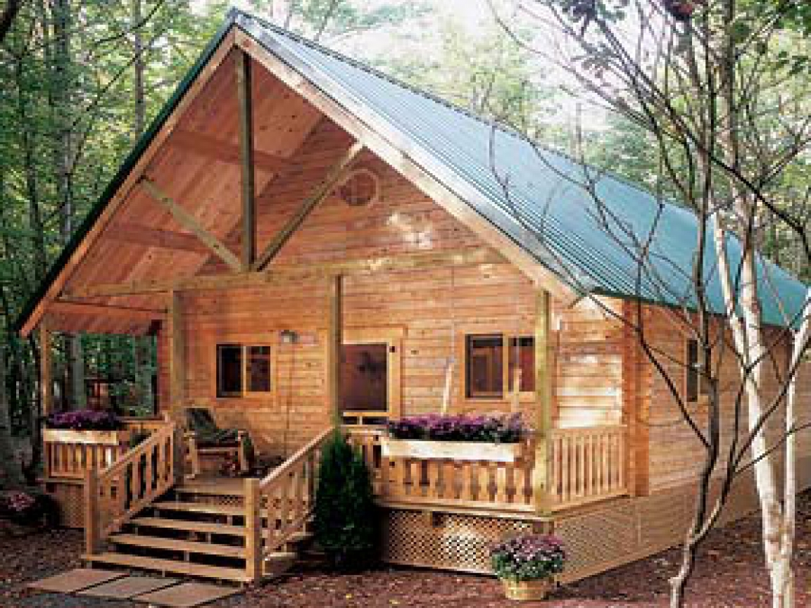 Small hunting cabins you build build your own cabin kits for How to build a cabin floor