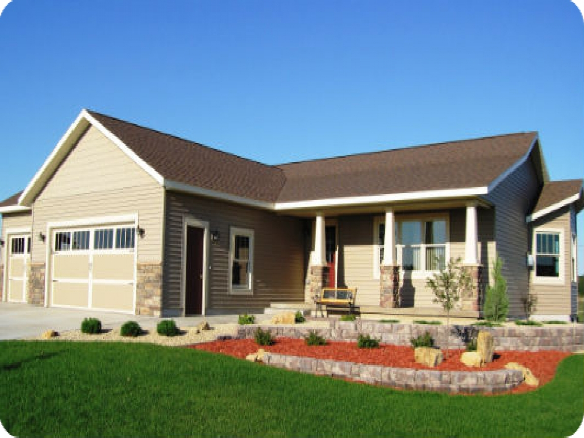 Design house ranch style homes raised ranch before and for Modern raised ranch house plans