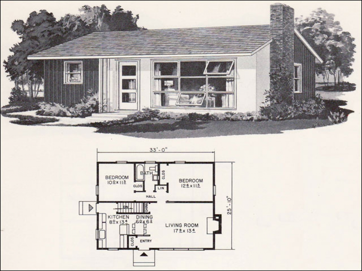 Mid century modern small home plans mid century modern for Mid century home designs