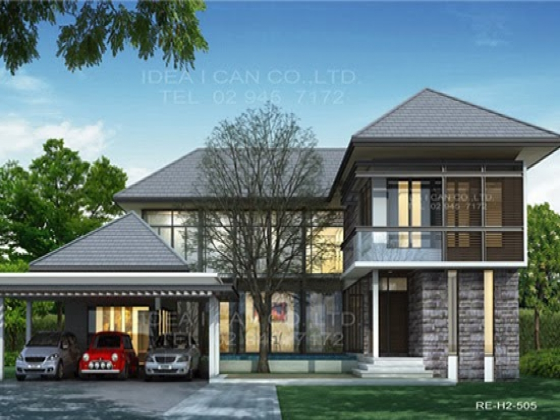 Modern Contemporary Two Story House Plans Modern Two Story