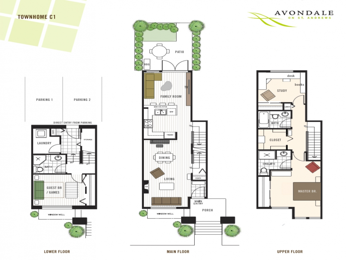 Modern townhouse floor plans 3 story townhouse floor plans for Townhouse design plans
