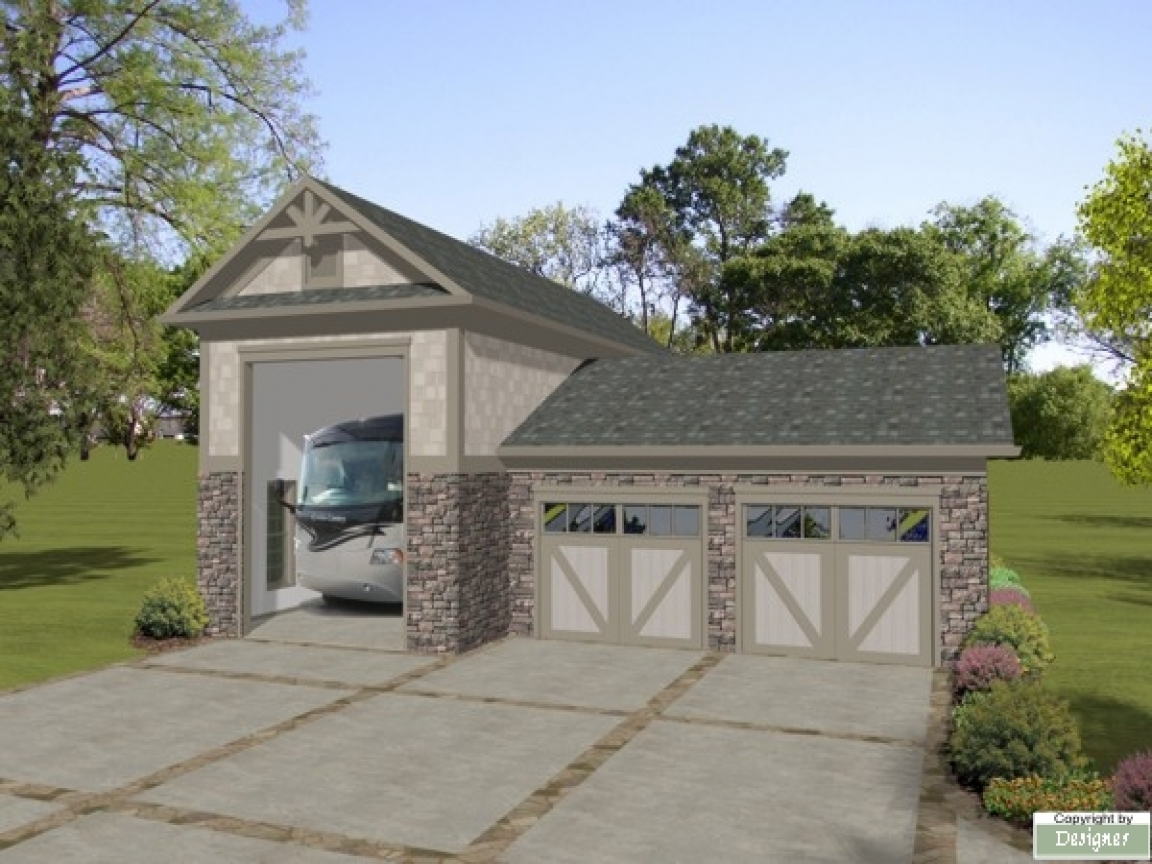 Rv Garage Shop Rv Garage With Carport Plans The House Designers Plans Treesranch Com
