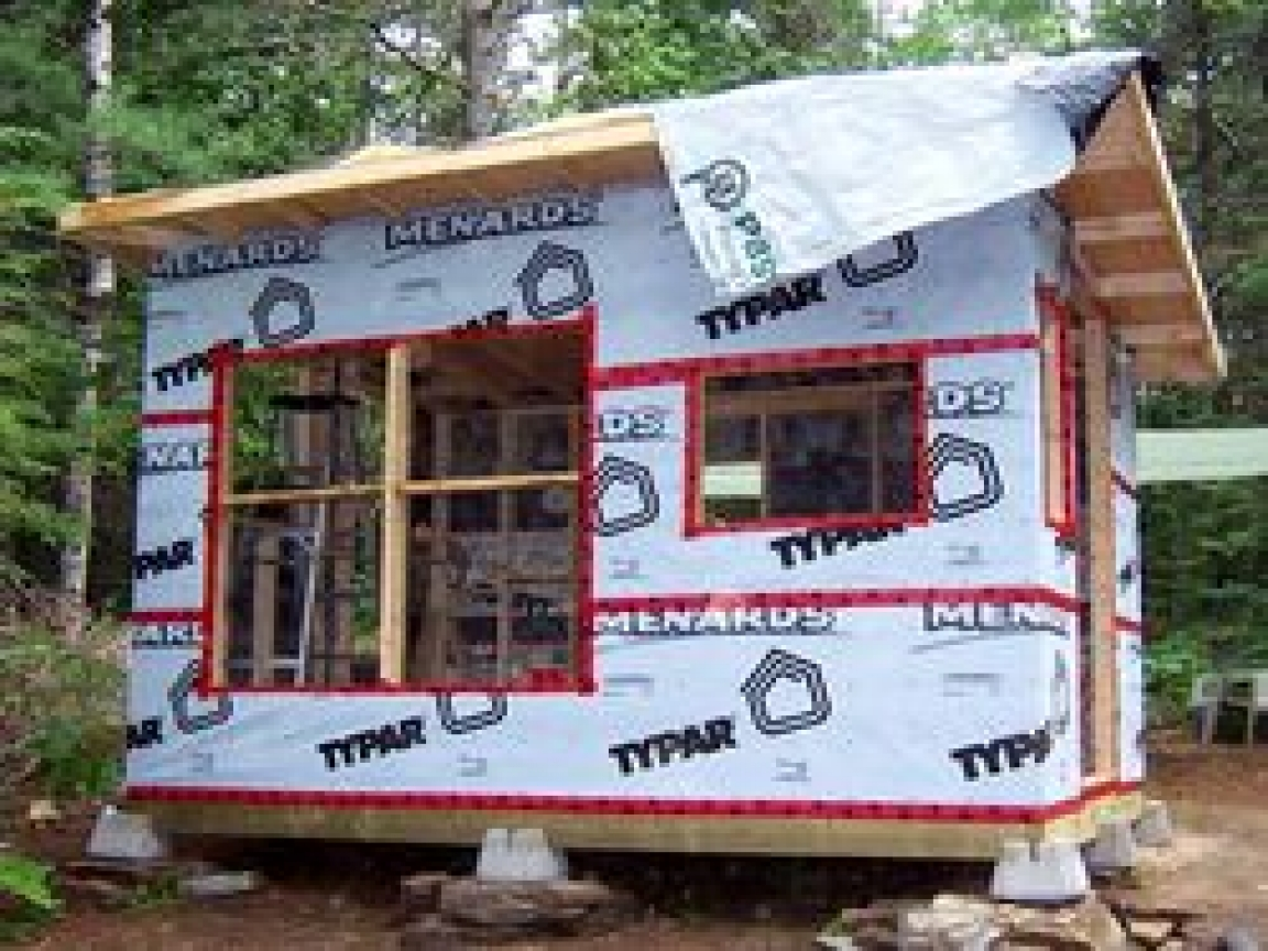 Easy To Build Small Cabins Small Build Yourself Cabin Plan