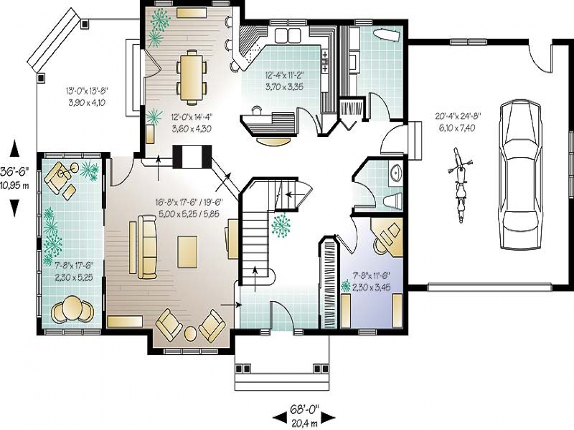 Small open concept house plans open floor plans small home for Concept house plans