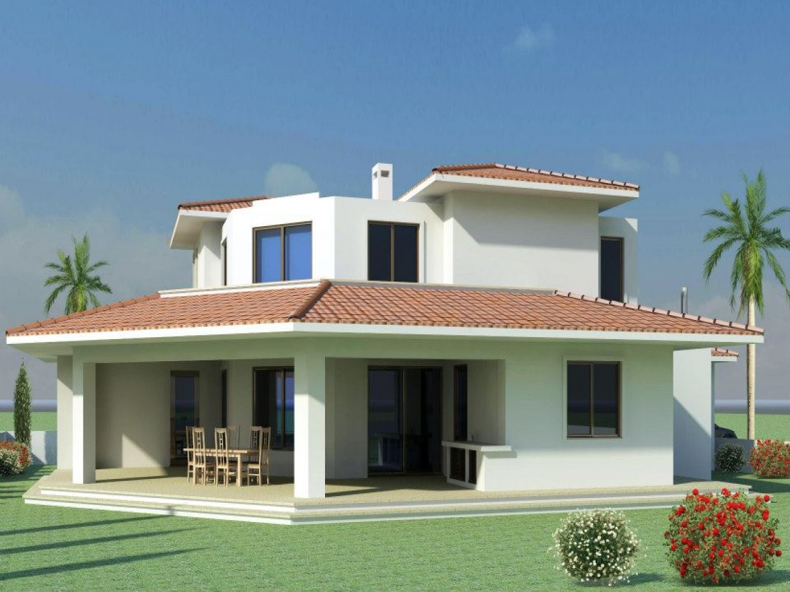 Modern mediterranean style home plans modern mediterranean for Contemporary mediterranean house plans