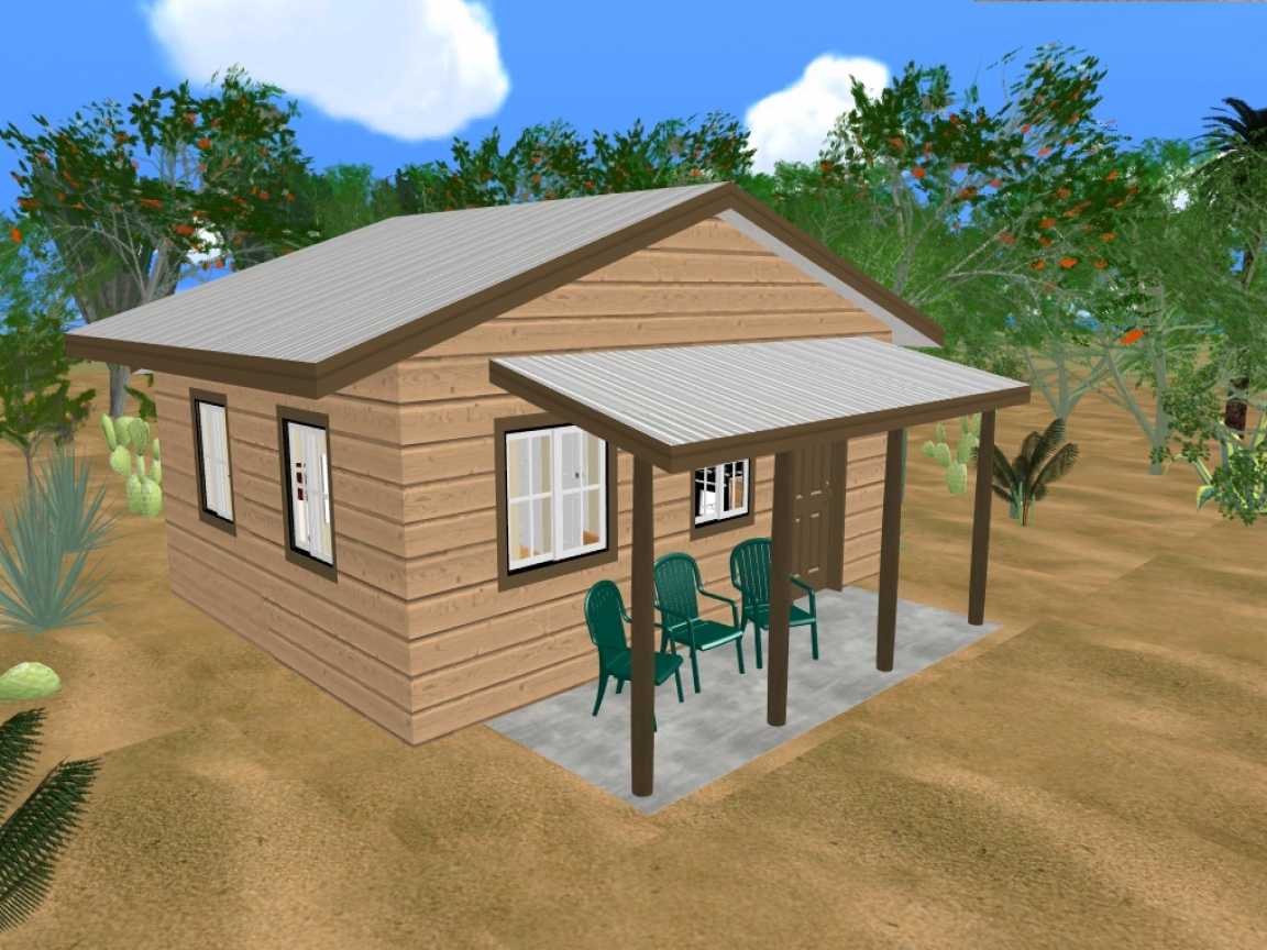 Cozy home plans log cabin house plans with open floor plan for Cozy cottage plans