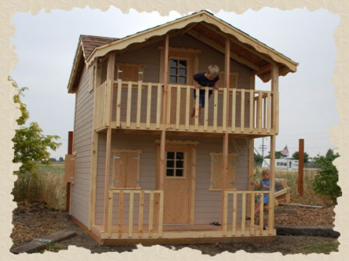 Do It Yourself Home Design: 2 Story Kids Playhouse Plans 3- Story Playhouse, Do It