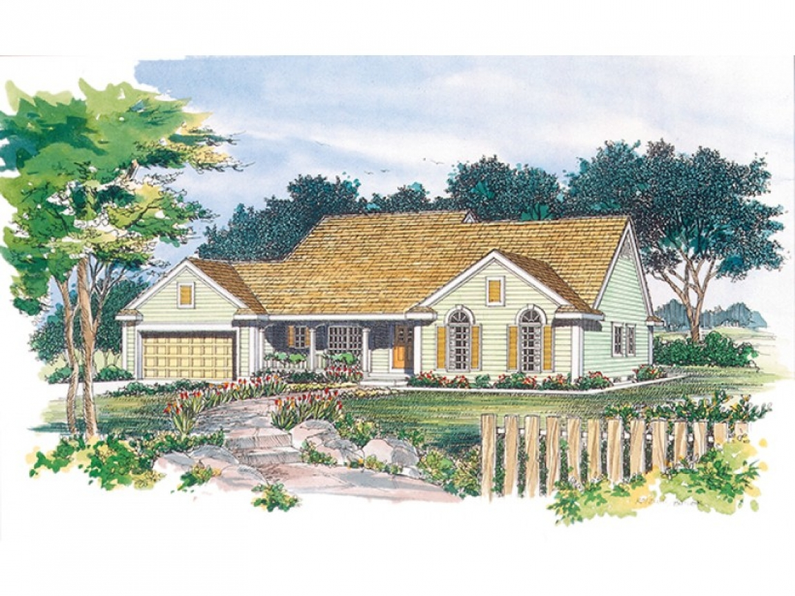 Eplans cottage house plan country charmer 1835 square feet for Country cottage house plans