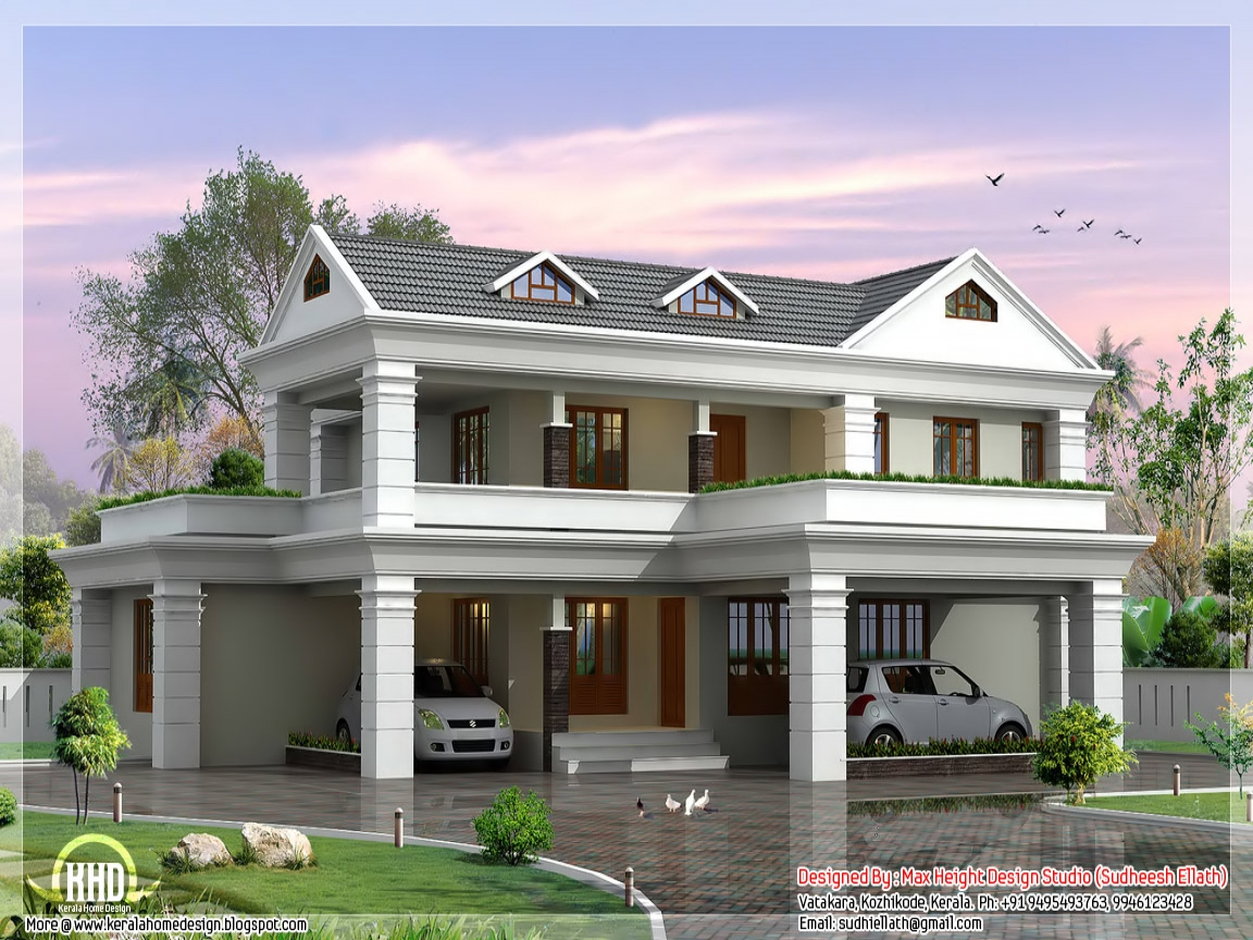 Residential 2 Storey House Plan 2 Storey House Design Plan