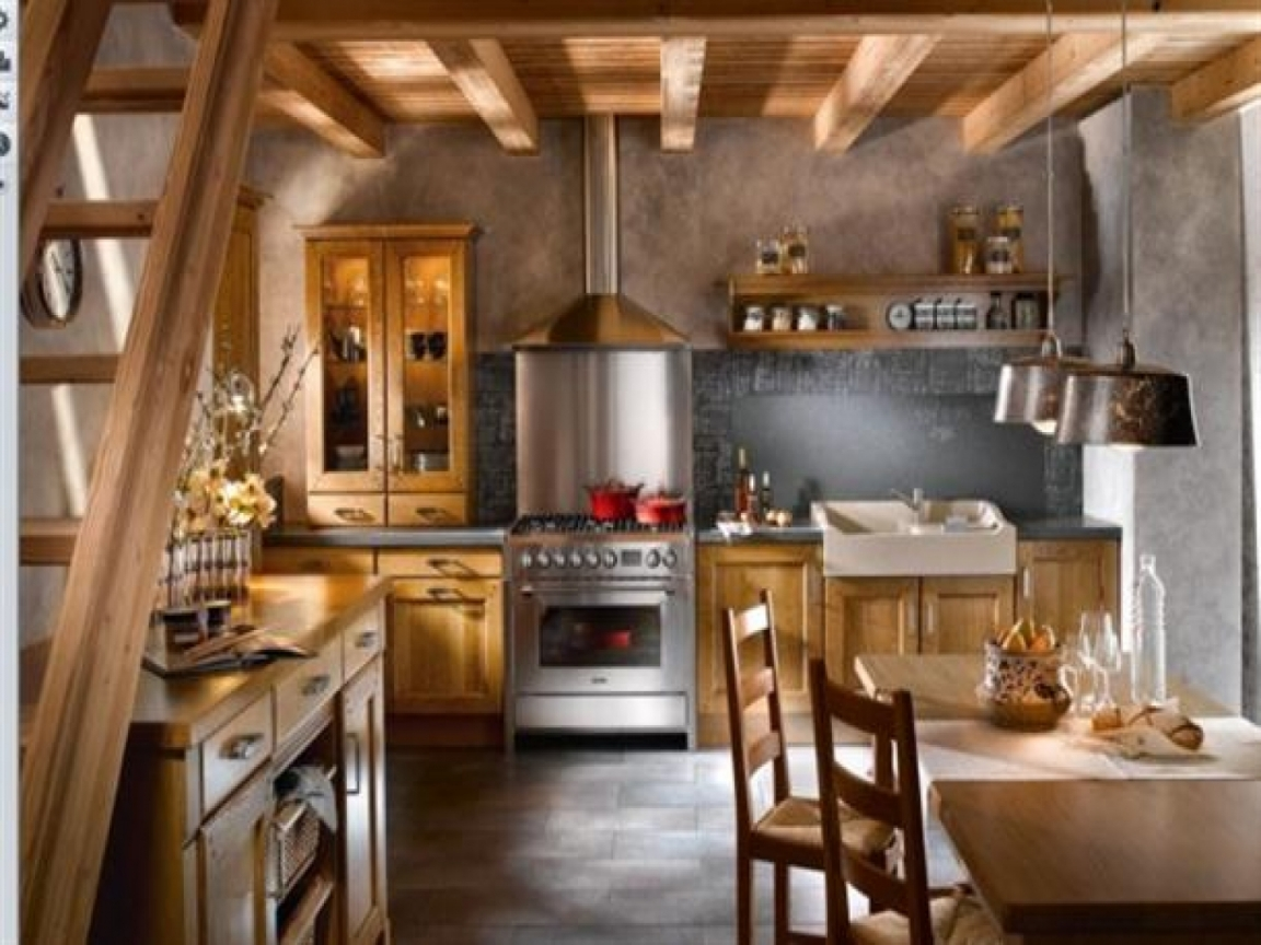 Little French Country Kitchens Rustic Kitchen