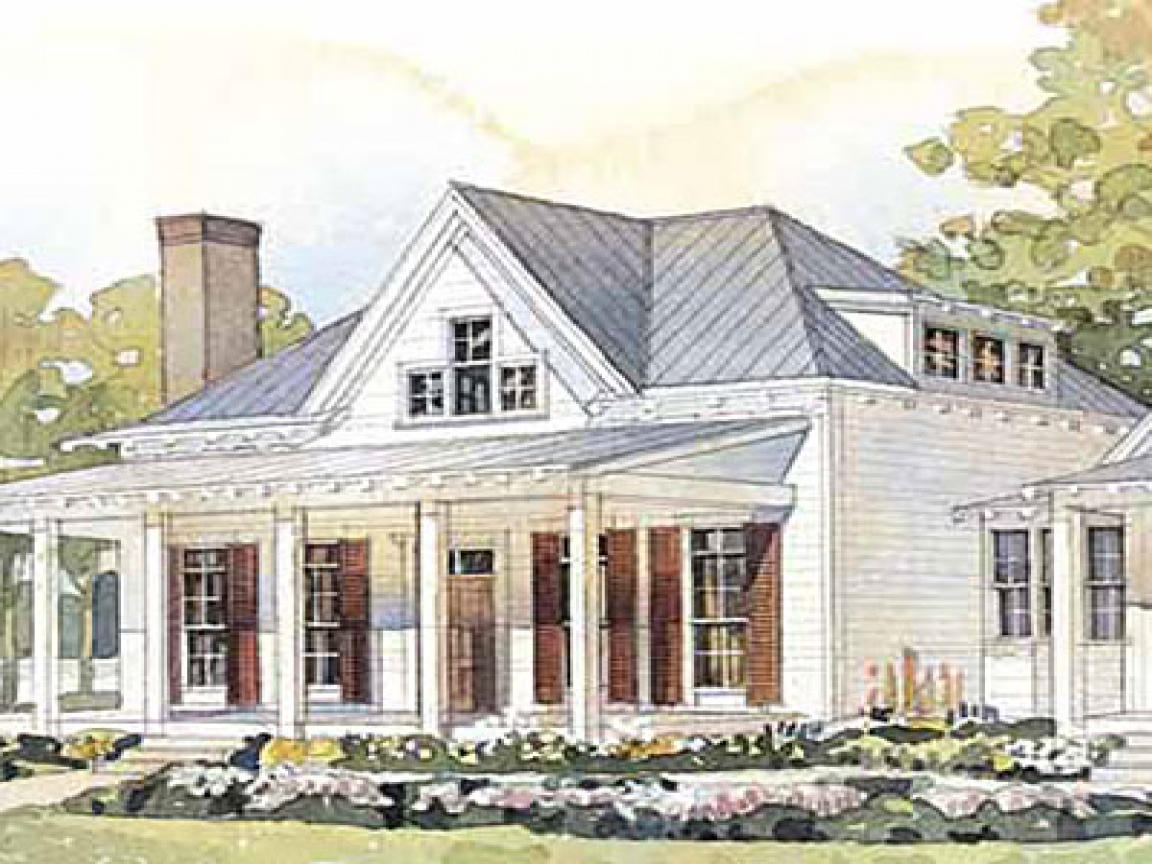 Cottage living house plans small cottage house plans with for Small cottage floor plans with porches