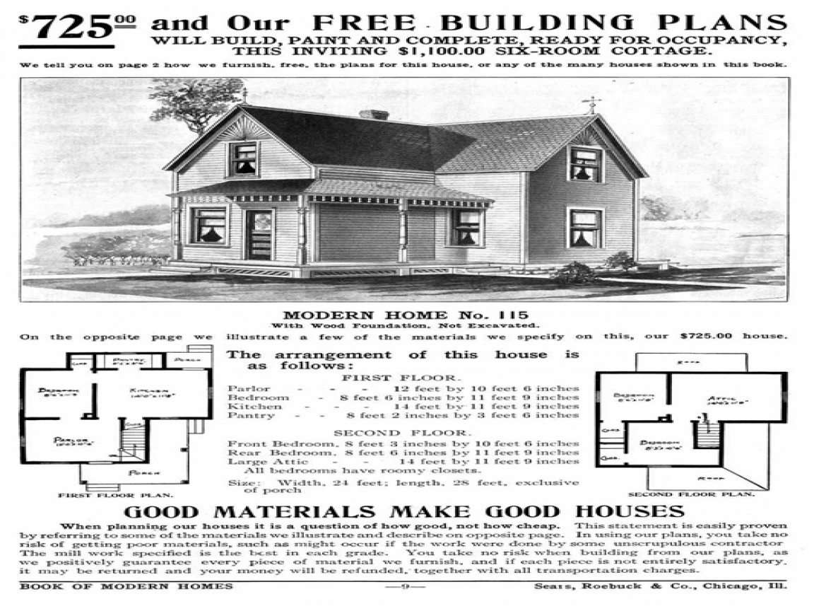 Sears home catalog 1930s sears catalog homes early 1900 for 1900 bungalow house plans