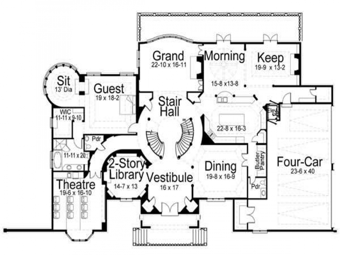 Japanese castle small castle house floor plans castle for Castle style home plans