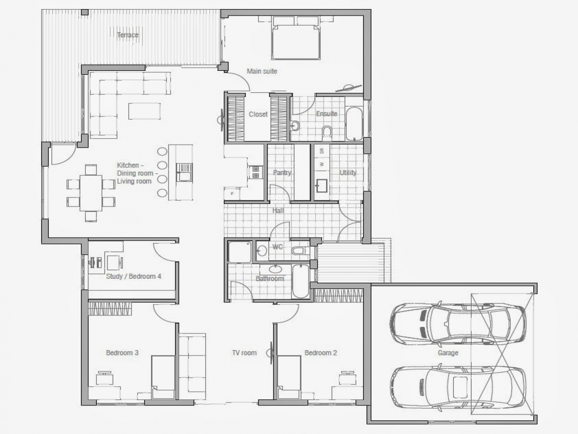 Affordable 3 bedroom house plans to build 3 small house for Economical to build house plans