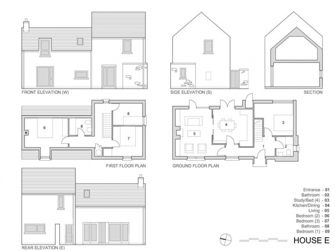 Elevation view drawing elevation plan view village house Village house plan