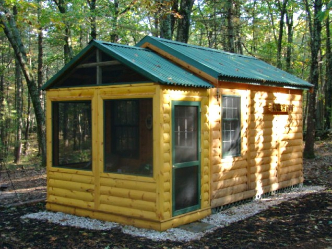 Small camping cabin kits tiny cabin kits camp cabin kits for Small cabin kits