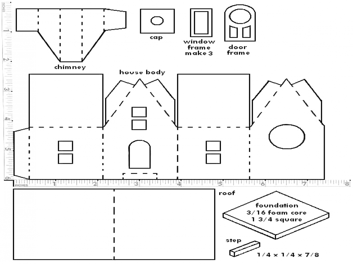 This is a graphic of Sly Printable House Template
