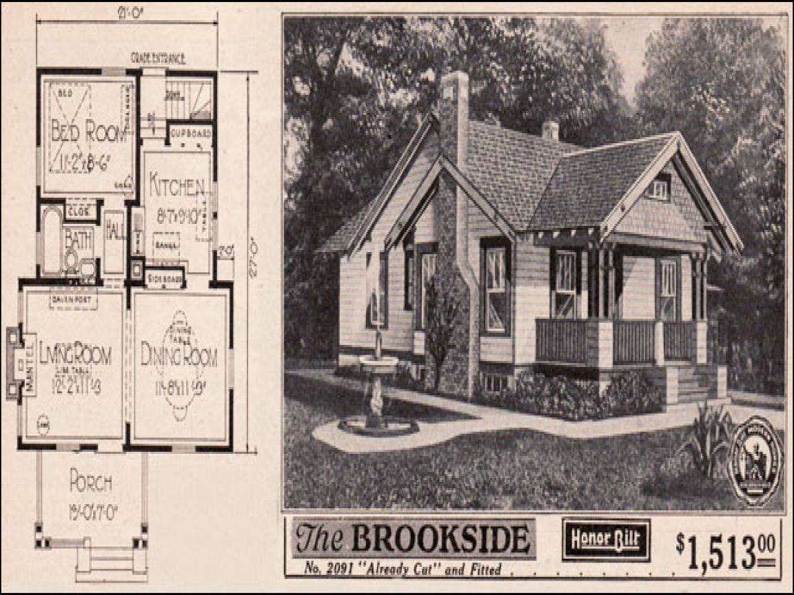 Old sears craftsman house plans vintage sears craftsman for Old style craftsman house plans