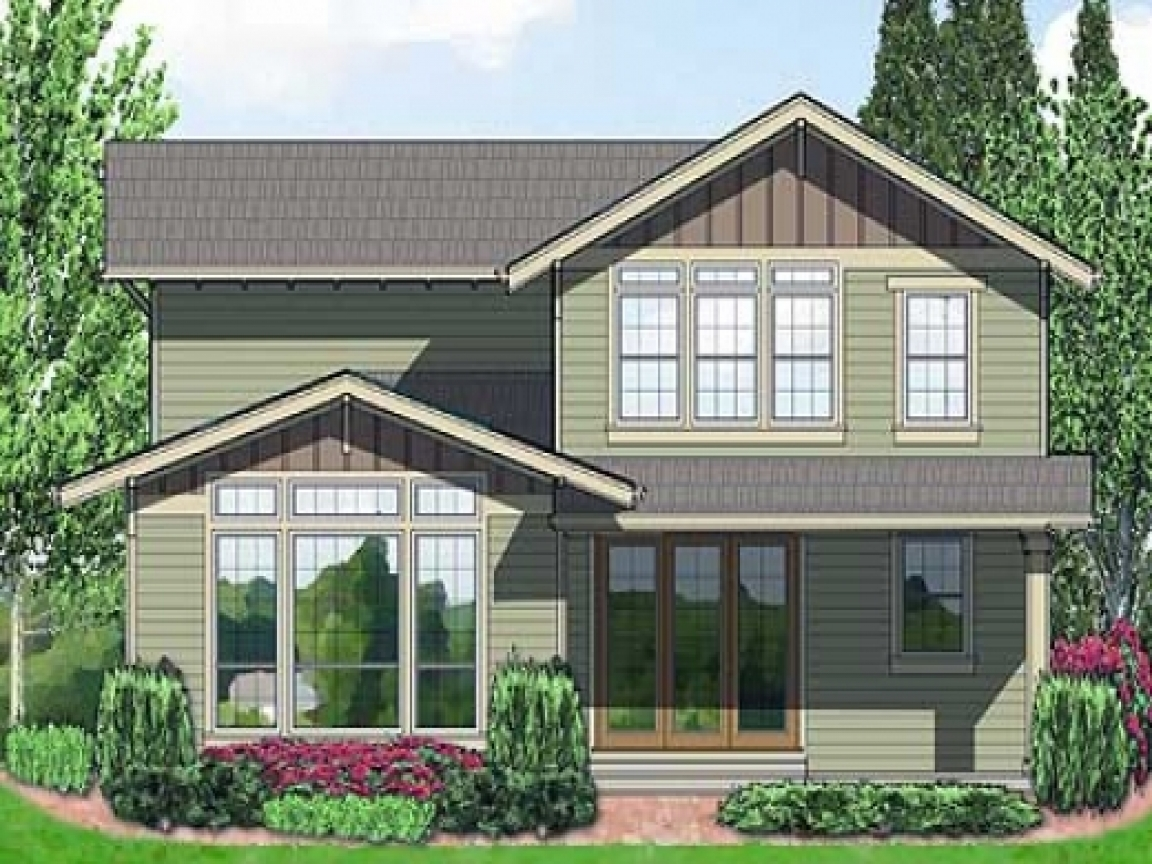 Plan w6991am northwest narrow lot craftsman house plans for Narrow home designs
