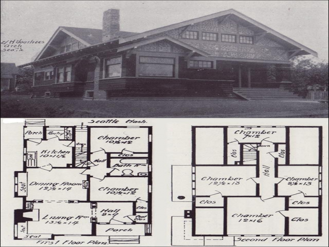 Old Bungalow House Plans Craftsman Bungalow House This