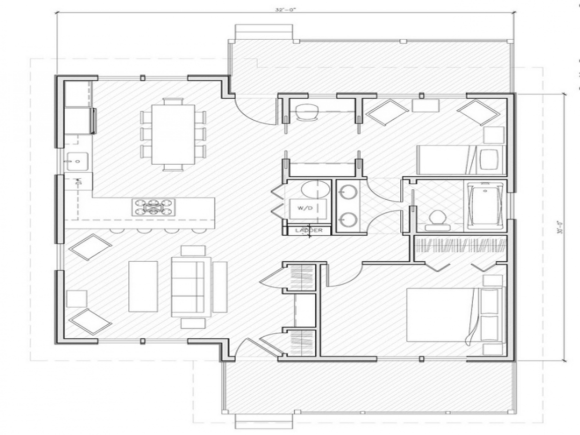 Simple small house floor plans small house plans under for Best house plans 1000 square feet