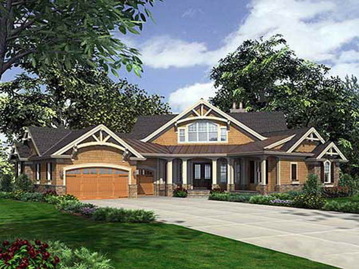 Single Story Craftsman House Plans Dramatic Craftsman