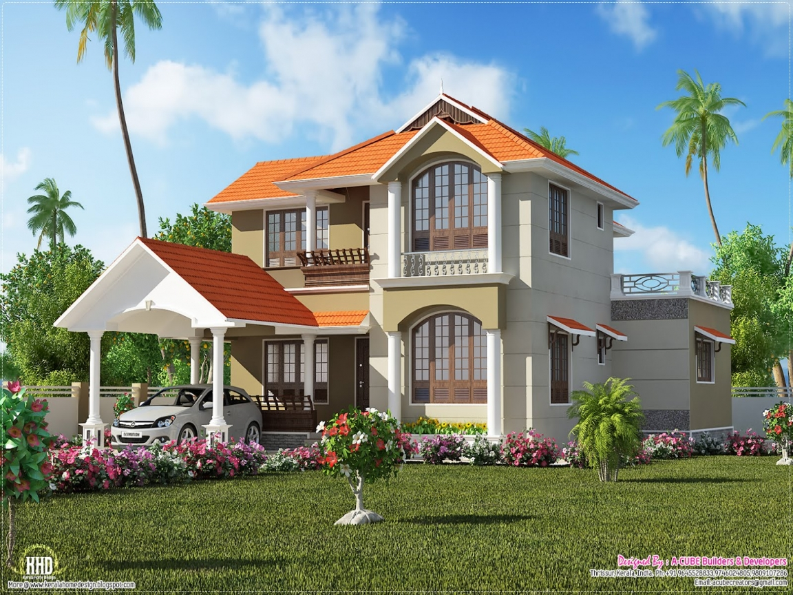 Kerala house designs and plans kerala 3 bedroom house for Simple villa design