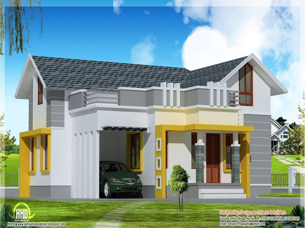 Unique single story home designs single story modern house for One story contemporary home plans