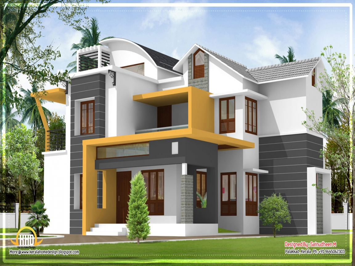 Kerala modern house design kerala home design modern for Contemporary style homes in kerala