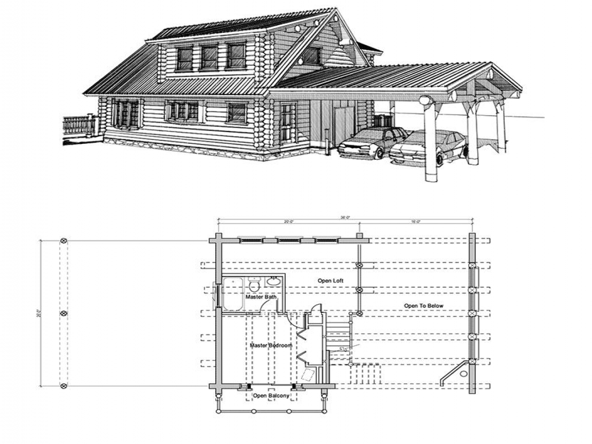 Small Log Cabin Floor Plans with Loft Rustic Log Cabins ...