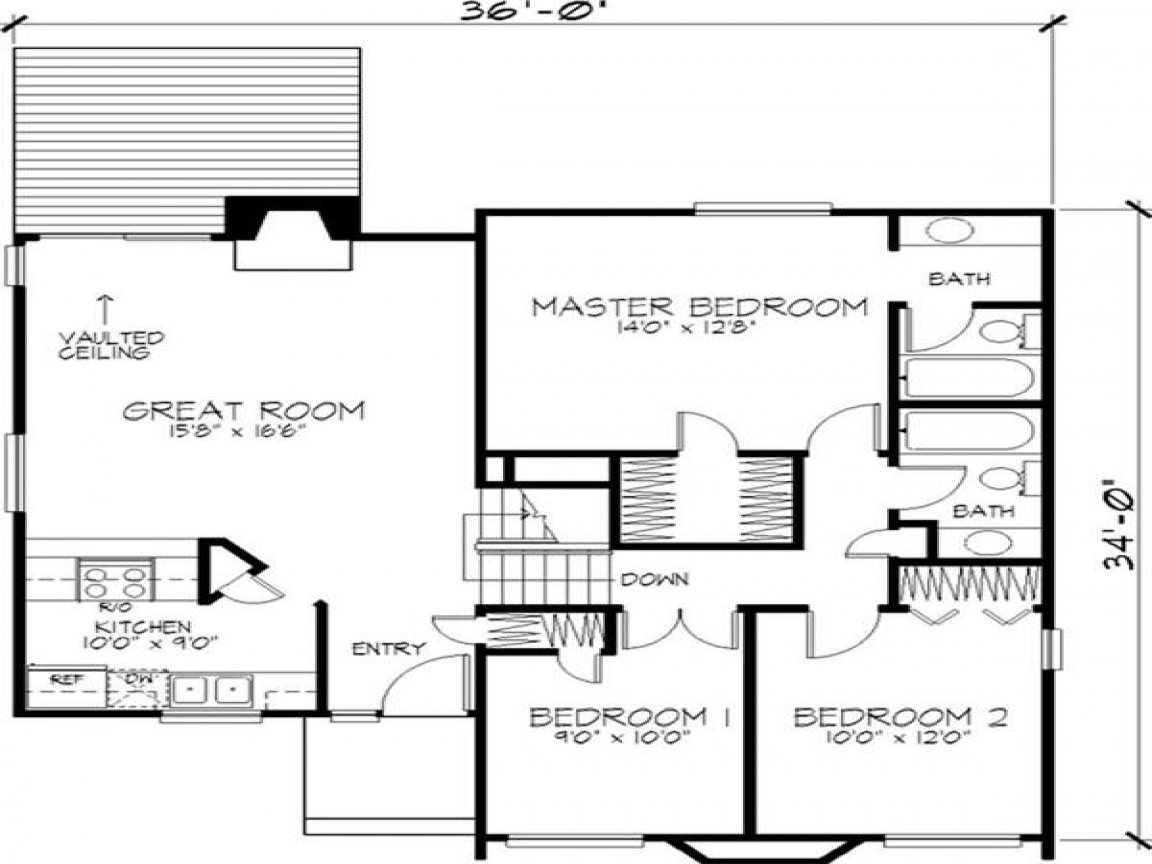 Modern 2 story house floor plan residential 2 storey house for Theplancollection com modern house plans