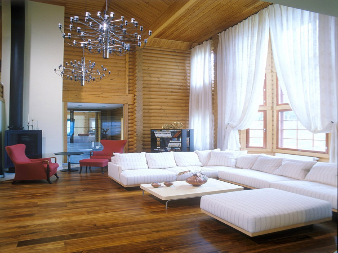 Small modern log cabin interior modern log cabin interior for Interior designs for small cabins