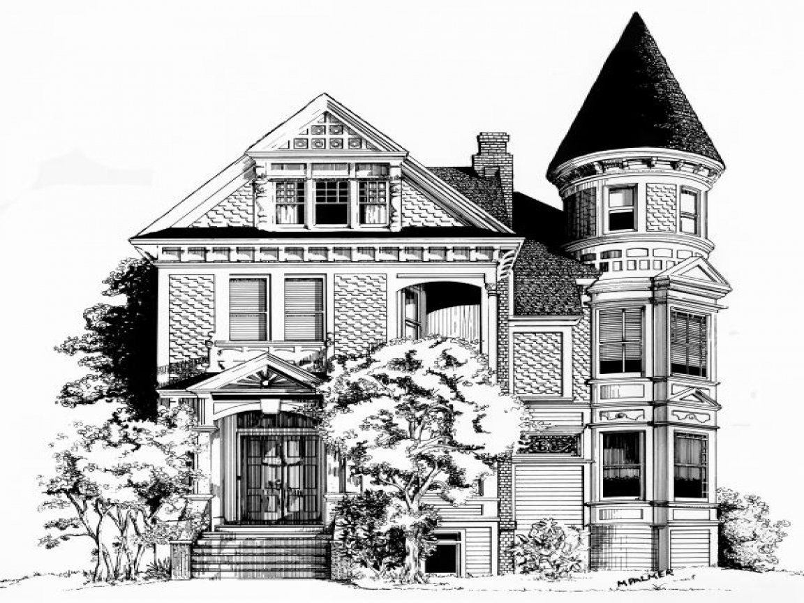 victorian house drawings san francisco house drawing painted 15332
