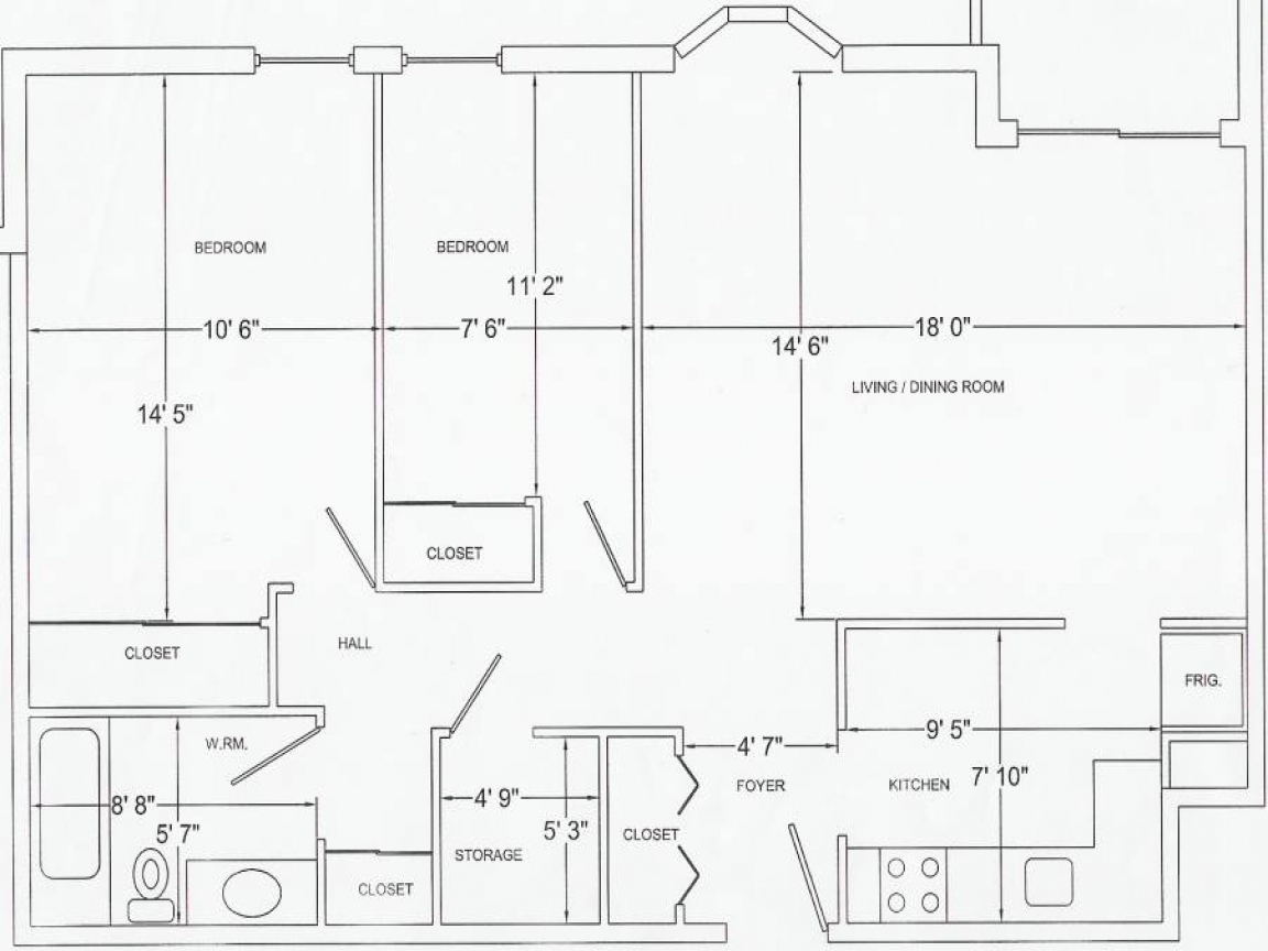 1 4 Scale Furniture Templates Printable Floor Plan ...