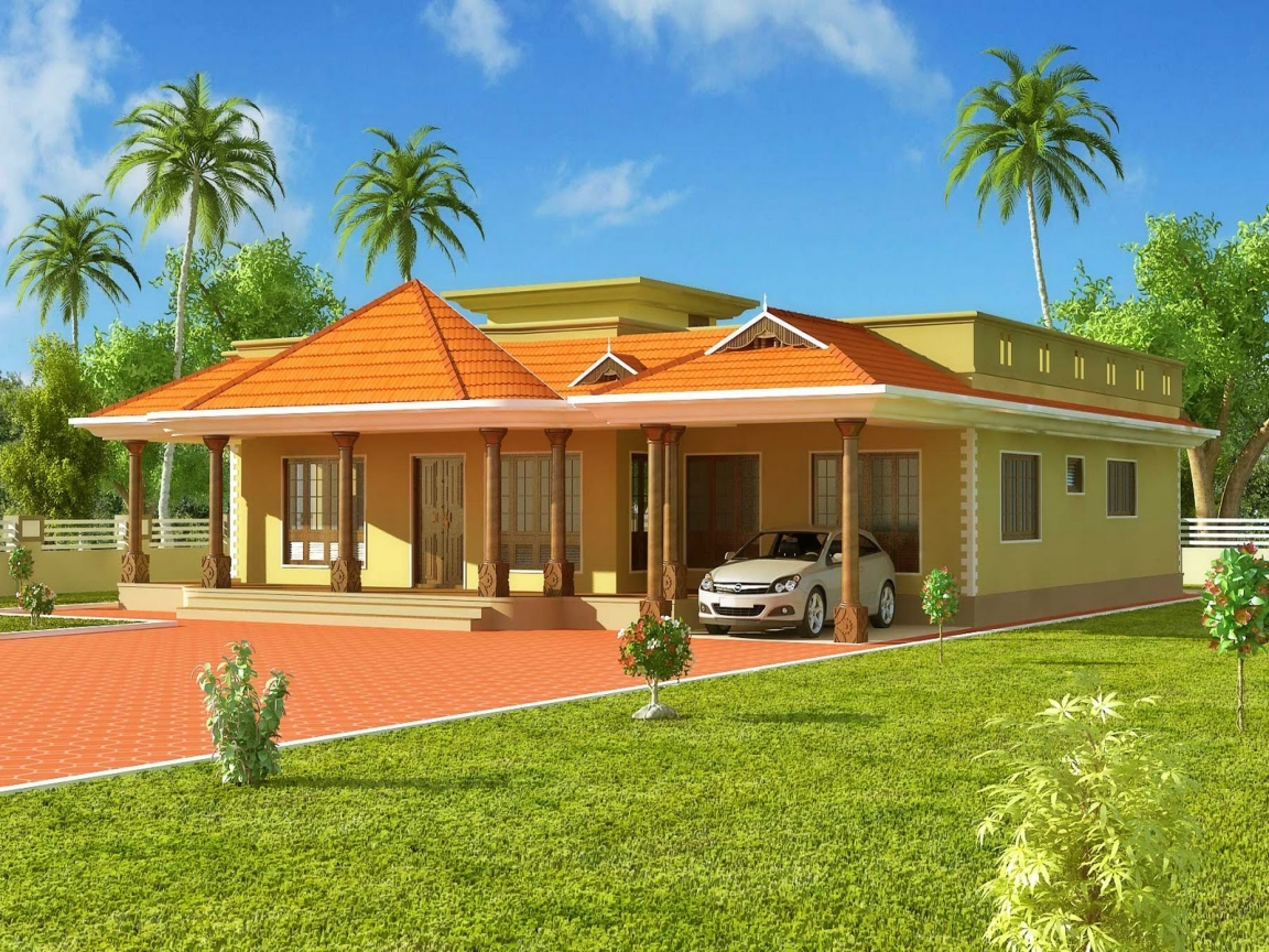 Kerala style single story house kerala style chicken rcc for Rcc home design