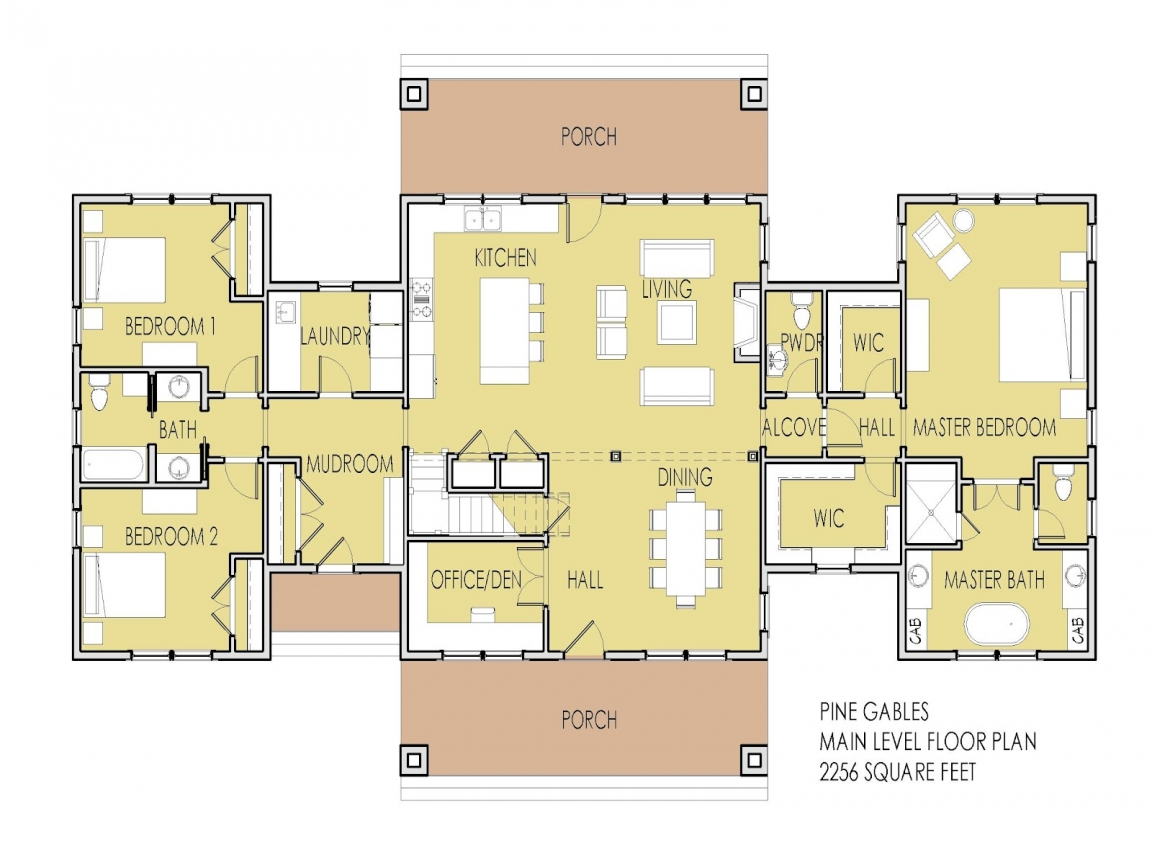 2 Bedroom House Simple Plan House Plans With 2 Master