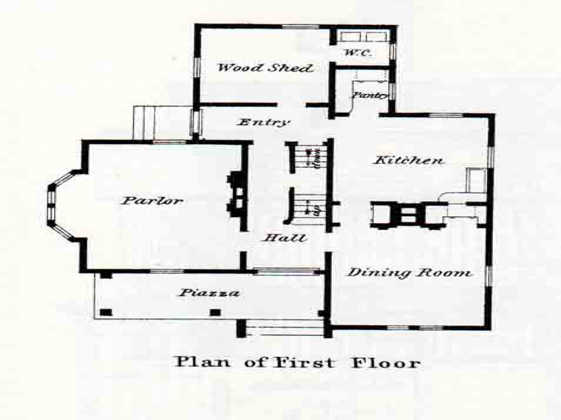 Queen anne victorian houses small victorian house floor for Queen anne floor plans