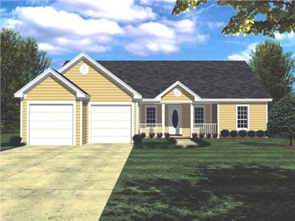 House plans ranch style home ranch style house plans with for Simple ranch house plans with basement