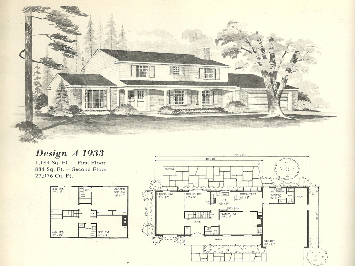 Old fashioned farmhouse floor plans vintage house plans for Old fashioned home plans