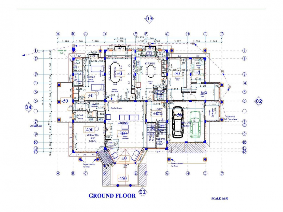 Free printable house blueprints free house plans for Printable blueprints