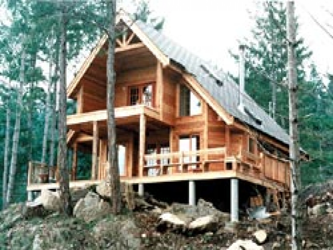Do It Yourself Home Design: Small Mountain Cabin House Plans Mountain Cabin Scenes, Do