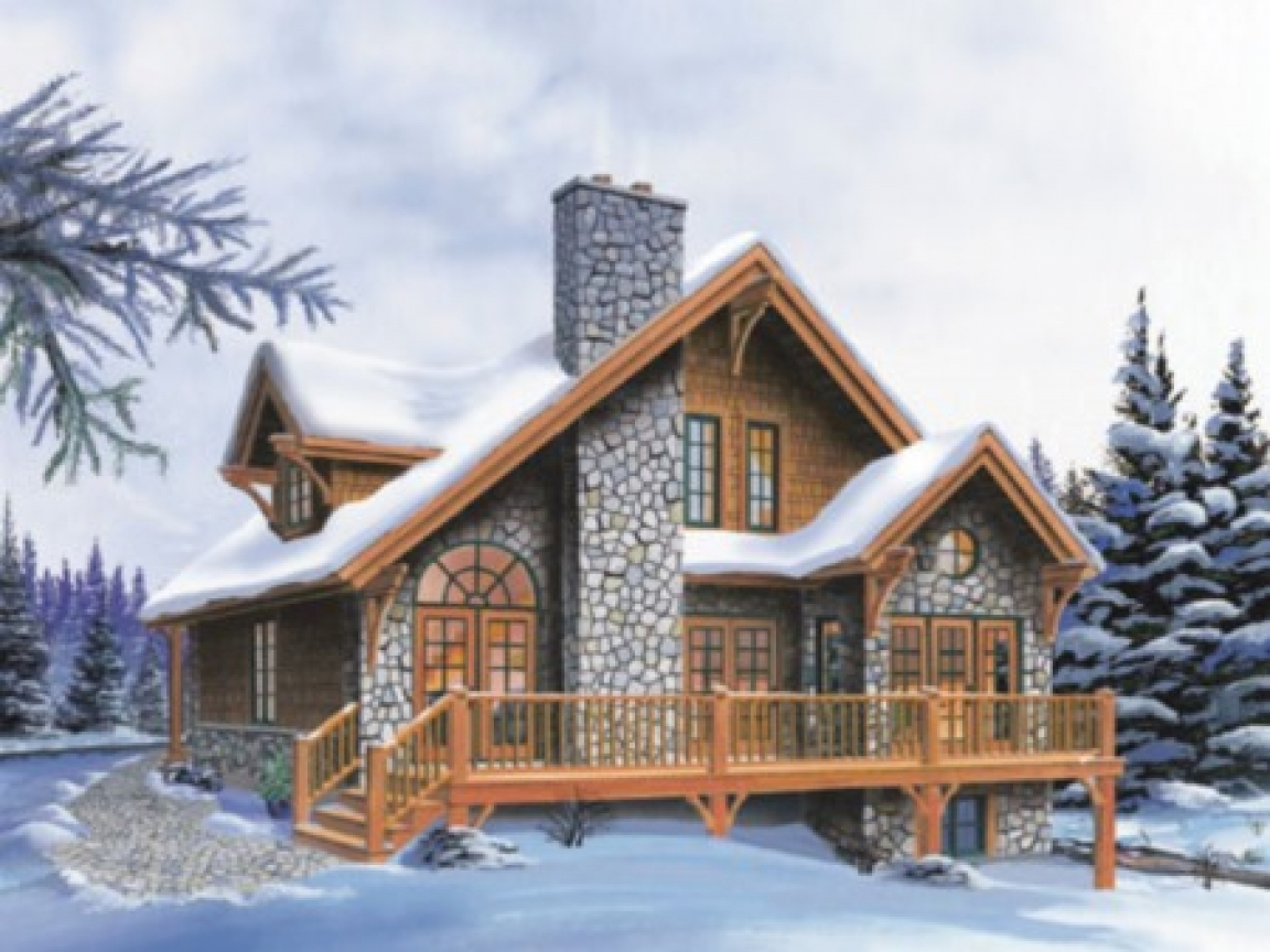 Simple small house floor plans small cottage house plans for Vacation cabin plans small