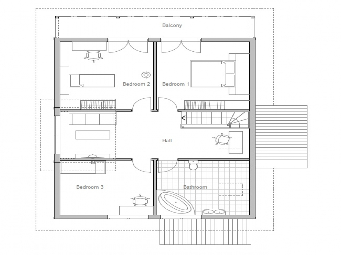 Small affordable house plans small two bedroom house plans for Double bedroom house plans