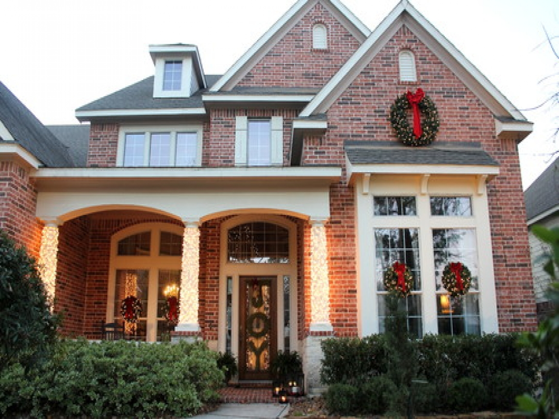 Outdoor Christmas Decorations Front Of House Large Outdoor