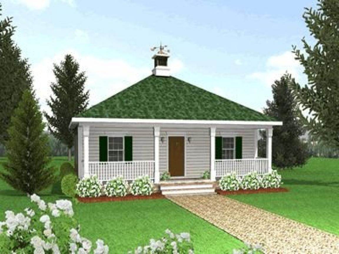 Country cottage house plans with porches tiny romantic for Small country cottage plans