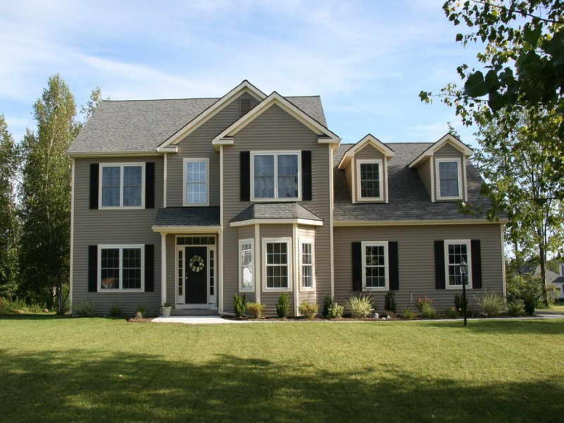 Colonial Two-Story House Plans 2 Story Colonial House ...