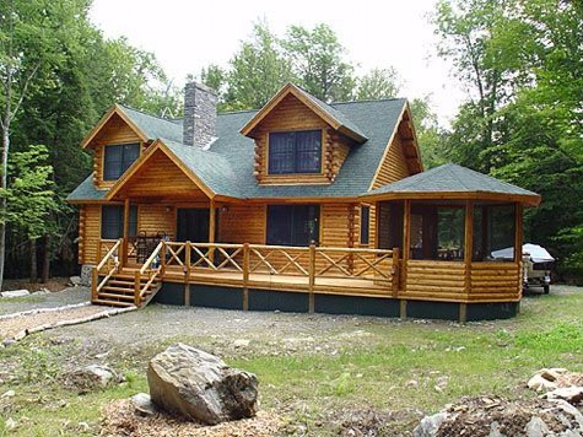 Woods log cabin homes simple log cabin homes dream log for Simple log cabins